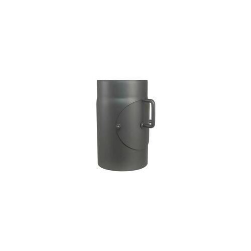 Buderus Abgasrohr für Kaminofen Länge 250 mm Ø 150 mm - mit Tür und Drosselklappe - 80345002