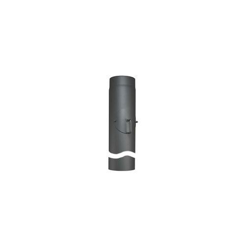 Buderus Abgasrohr für Kaminofen Länge 1000 mm Ø 150 mm - mit Tür und Drosselklappe - 80345020