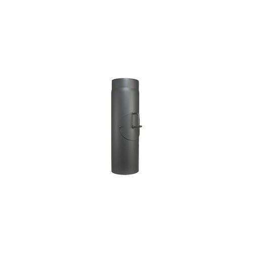 Buderus Abgasrohr für Kaminofen Länge 500 mm Ø 150 mm - mit Tür und Drosselklappe - 80345024