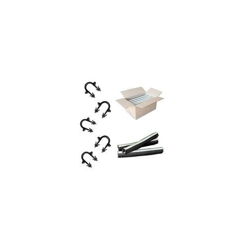 heima-press Tackernadeln - Heizrohrhalter 40 mm für Rohre Ø 14 bis 20 mm - magaziniert - Karton 1.000 Stk.