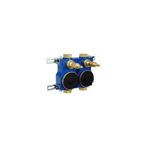Zenner Wasserzähler-Montageblock ZENNER 2'' für Unterputz-Installation - 124090
