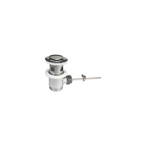 heima-press Excenter Ablaufgarnitur mit kleinem Stopfen für Waschbecken - mit Überlauf