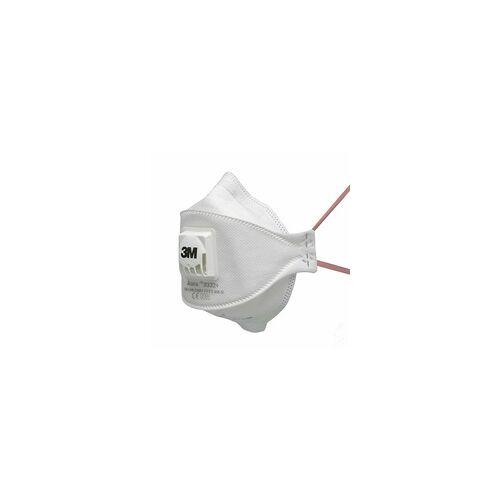 3M 2x Mundschutz Maske FFP3 Atemschutzmaske Gesichtsmaske Ventil 3M Aura 9332+ , VPE: 2