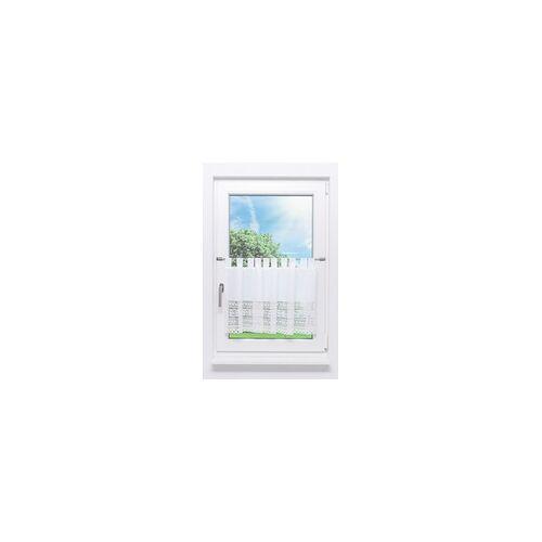 Lysel Scheibengardine Häkelmuster (Bx H) 140cm * 48cm weiß/rohweiß