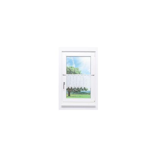 Lysel Scheibengardine Bogenmuster (Bx H) 52,5cm * 30 weiß/reinweiß
