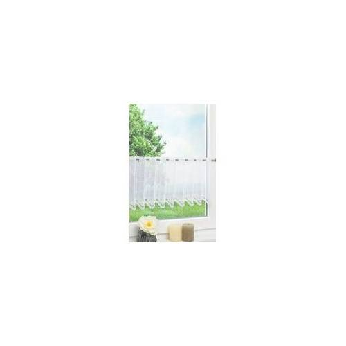 Lysel Scheibengardine Bogenmuster (Bx H) 241,5cm * 30 weiß/reinweiß