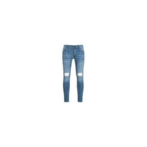 BRAVE SOUL Crofton Stretch Skinny Herren Denim Cut Out Jeans MJN-CROFTON - W28/L34