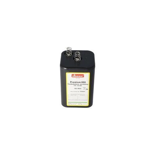 Nissen Premium 800 4R25 Batterie 6 Volt max. 9000mAh Kapazität, Trockenbatterie Nissen 4R25 ohne Quecksilber und Cadmium