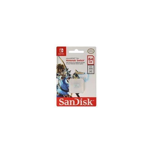 SanDisk MicroSDXC Speicherkarte für Nintendo Switch mit 64, 128 oder 256GB