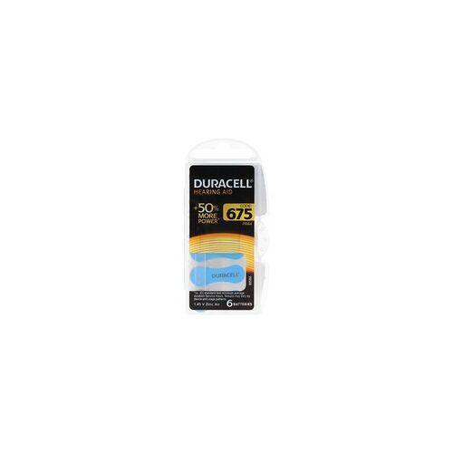 Duracell Hörgeräte Batterie Duracell 13, IEC PR48 Zink Air Batteries 6 Stück in Kunststoffbox