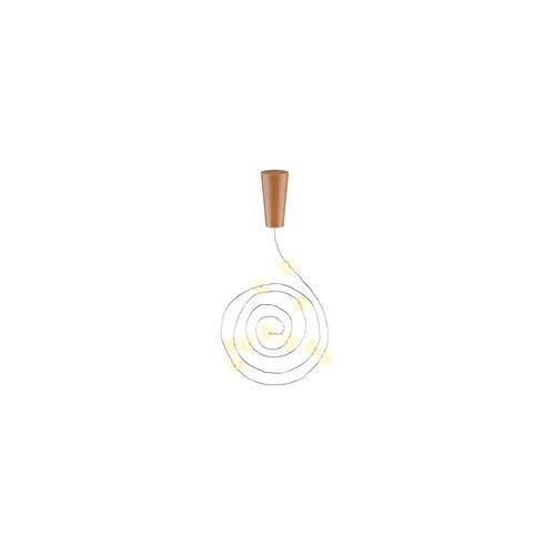 Goobay 10 Stück LED-Flaschenlicht Lichterkette inklusive Batterien, die Beleuchtung ideal für Glasflaschen