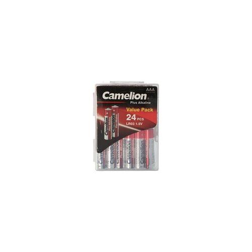 Camelion 24 Stück Plus Alkaline LR03, Micro AAA Batterien in praktischer Batteriebox für 24 Batterien LR3