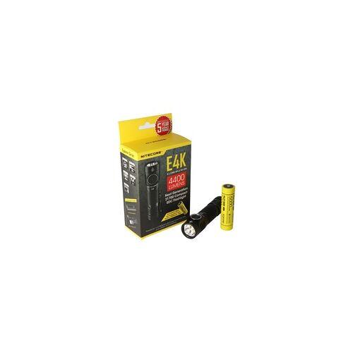 Nitecore E4K - 4400 Lumen NC-E4K LED-Taschenlampe mit bis zu 4400Lumen inkl. Akku und AkkuSafe