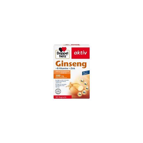Queisser DOPPELHERZ Ginseng 250+B-Vitamine+Zink Kapseln 30 St