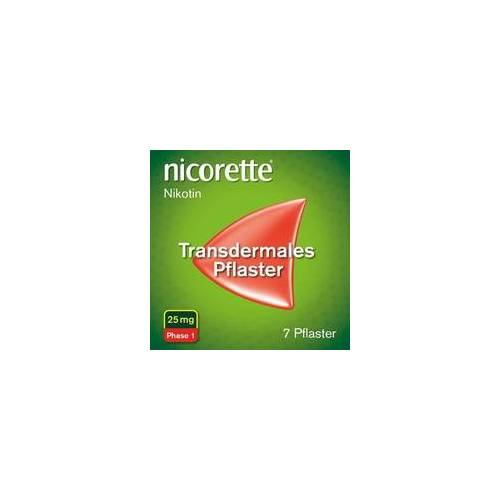 Johnson & Johnson nicorette Pflaster mit 25 mg Nikotin zur Raucherentwöhnung 7 St