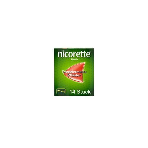 Johnson & Johnson nicorette Pflaster mit 25 mg Nikotin zur Raucherentwöhnung 14 St