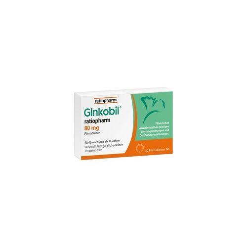 Ratiopharm GINKOBIL-ratiopharm 80 mg Filmtabletten 30 St