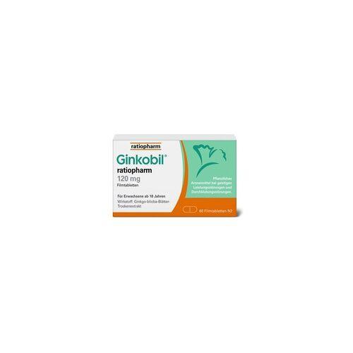 Ratiopharm GINKOBIL-ratiopharm 120 mg Filmtabletten 60 St