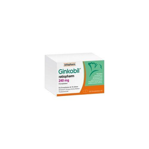 Ratiopharm GINKOBIL ratiopharm 240 mg Filmtabletten 120 St
