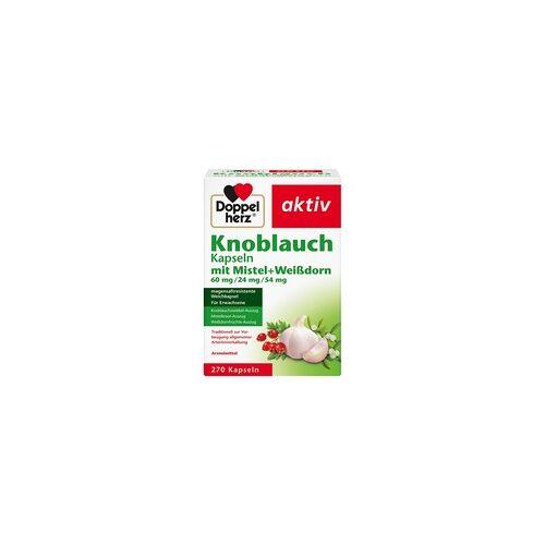 Queisser DOPPELHERZ Knobl.Kap.m.Mistel+Weißdorn 60/24/54 mg 270 St