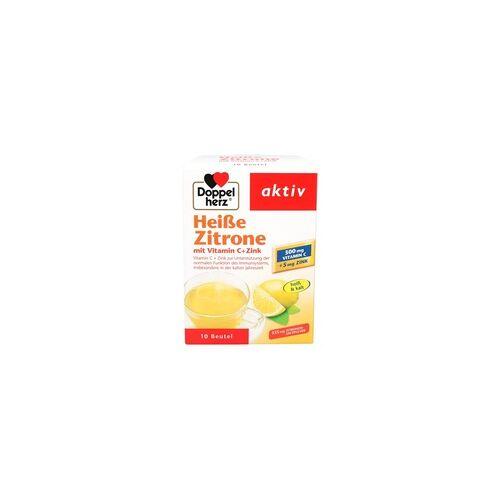 Queisser DOPPELHERZ heiße Zitrone Vitamin C+Zink Granulat 10 St
