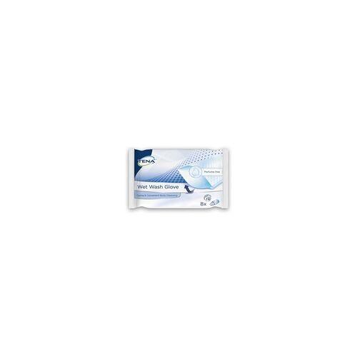 TENA WET Wash Glove parfümfrei 15x23 cm blau 8 St