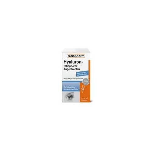 Ratiopharm HYALURON-RATIOPHARM Augentropfen 2X10 ml