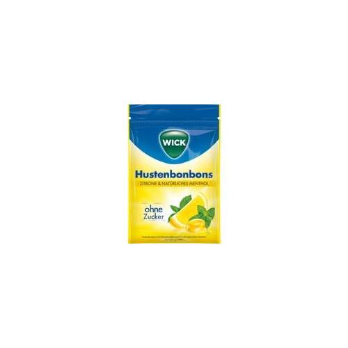 Candy WICK Zitrone & nat.Menthol Bonb.o.Zucker Beutel 72 g