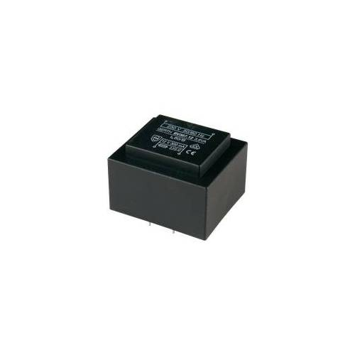 Gerth 387.15-2 - Printtrafo, 3,6 VA, 2x 7,5 V, 2x 200 mA, RM 27,5 mm