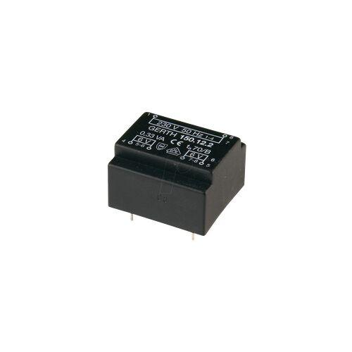 Gerth 150.12-1 - Printtrafo, 0,33 VA, 12 V, 27,5 mA, RM 15 mm