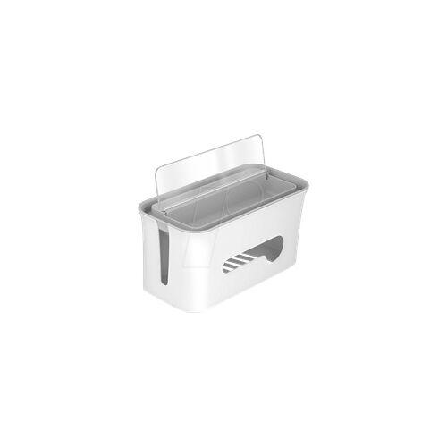 DELOCK 18290 - Kabelmanagement Box mit Aufbewahrungsfach weiß / grau