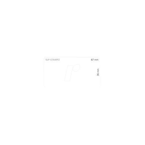 Seiko SLP-STAMP2 - Etikett für Briefmarken, 36 mm x 67 mm, weiß