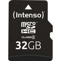 Intenso MSDHC32G - MicroSDHC-Speicherkarte 32GB, Intenso