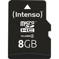 Intenso MSDHC8G - MicroSDHC-Speicherkarte  8GB, Intenso