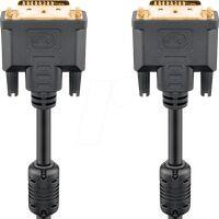 GOOBAY 93111 - DVI Monitor Kabel DVI-D 24+1 Stecker, Dual Link, 3,0 m