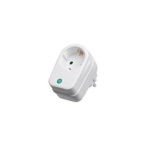 Goobay GB 51270 - Überspannungsschutzadapter, 16 A, 230 V, weiß