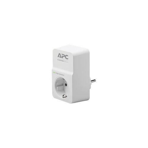 APC PM1W-GR - Überspannungsschutz-Steckdose, 1-fach, weiß
