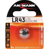 Ansmann ANS 5015293 - Alkaline Knopfzelle, 95 mAh, LR43