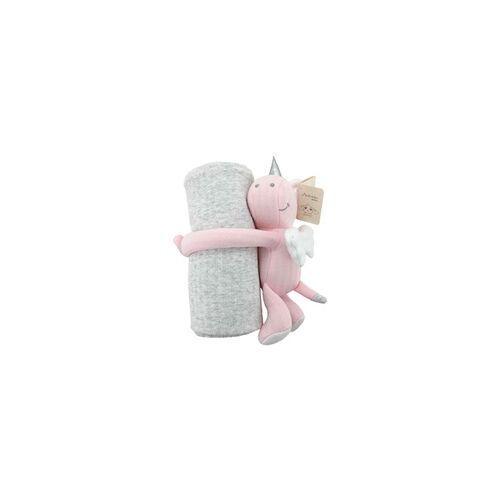 Antonio Baby-Kuscheldecke Einhorn pink