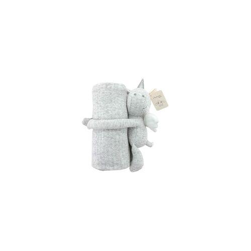 Antonio Baby-Kuscheldecke Einhorn grau
