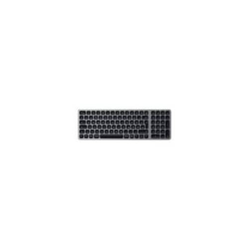 Satechi Aluminium Slim Bluetooth Backlit Tastatur kabellos space grey