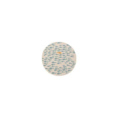 benuta KIDS Kinderteppich Juno Beige/Blau ø 120 cm rund - Teppich für Kinderzimmer