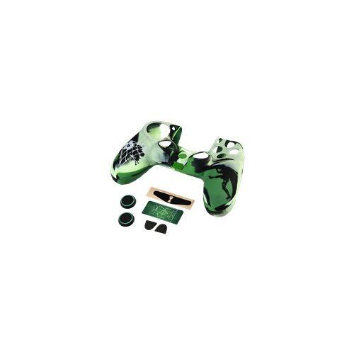 Hama 0054492 Soccer 7in1-Zubehör Paket für Dualshock 4 Controller PlayStation 4 (Schwarz, Grün)