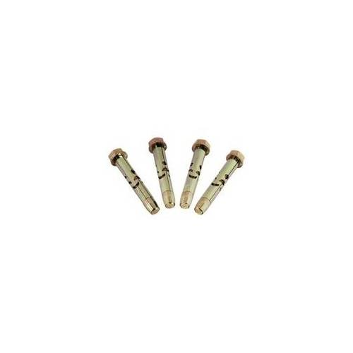 Hama 00044254 Schraubenset mit Schwerlastdübel aus Metall 10 x 50 mm (Silber)