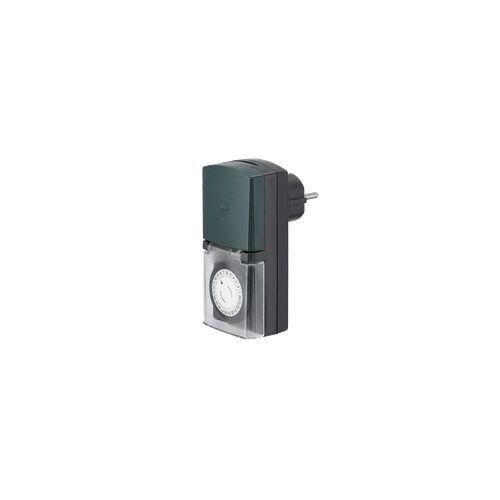 Hama 137262 Mini Tages-Zeitschaltuhr Outdoor (Schwarz)