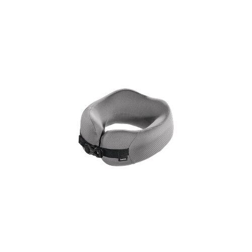 Hama 105384 Ergonomisches Nackenkissen Memory-Schaumstoff Dunkelgrau (Grau)