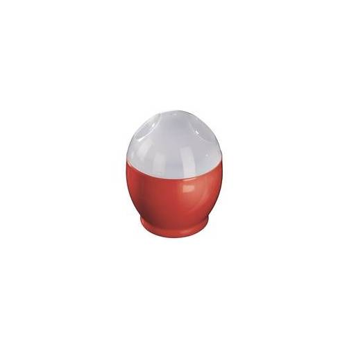 Xavax 00111490 2er-Set Mikrowellen-Eierkocher Polypropylen 6x8cm (Rot, Transparent)
