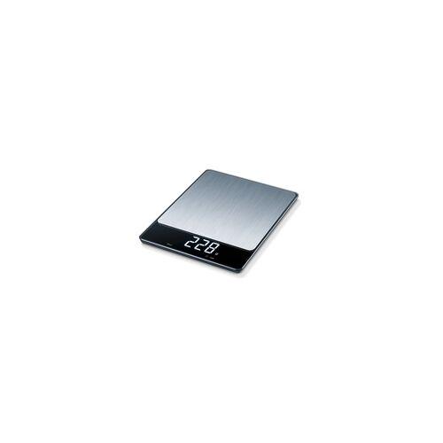 Beurer KS34 XL Elektronische Küchenwaage bis 15 kg (Silber)