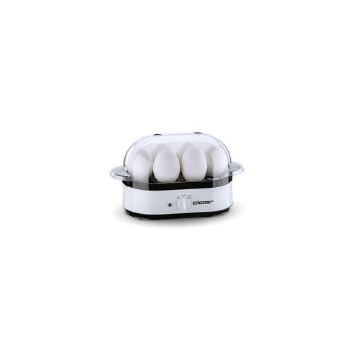 Cloer 6081 Eierkocher für bis zu 6 Eier 350 Watt (Weiß)