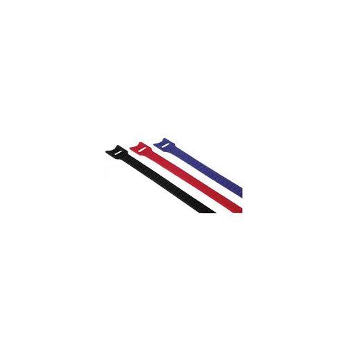 Hama 00020536 Klett-Kabelbinder 145 mm (Schwarz, Blau, Rot)